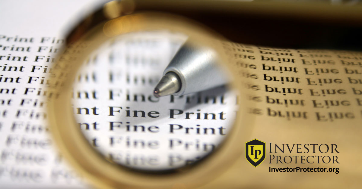 Fine Print in Broker Contracts